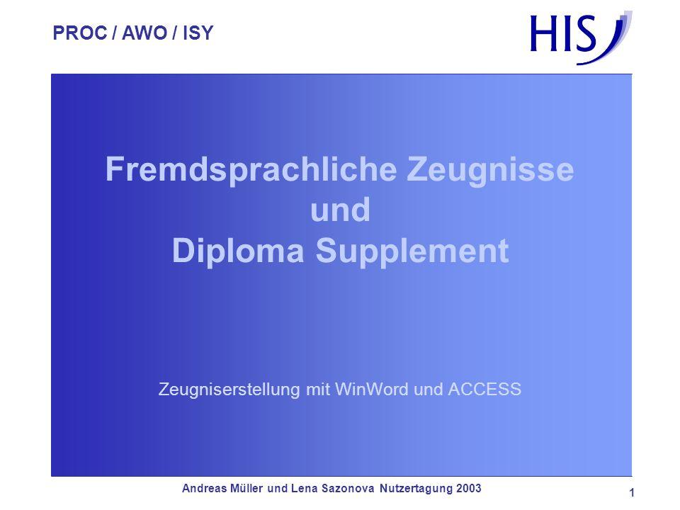 Fremdsprachliche Zeugnisse und Diploma Supplement