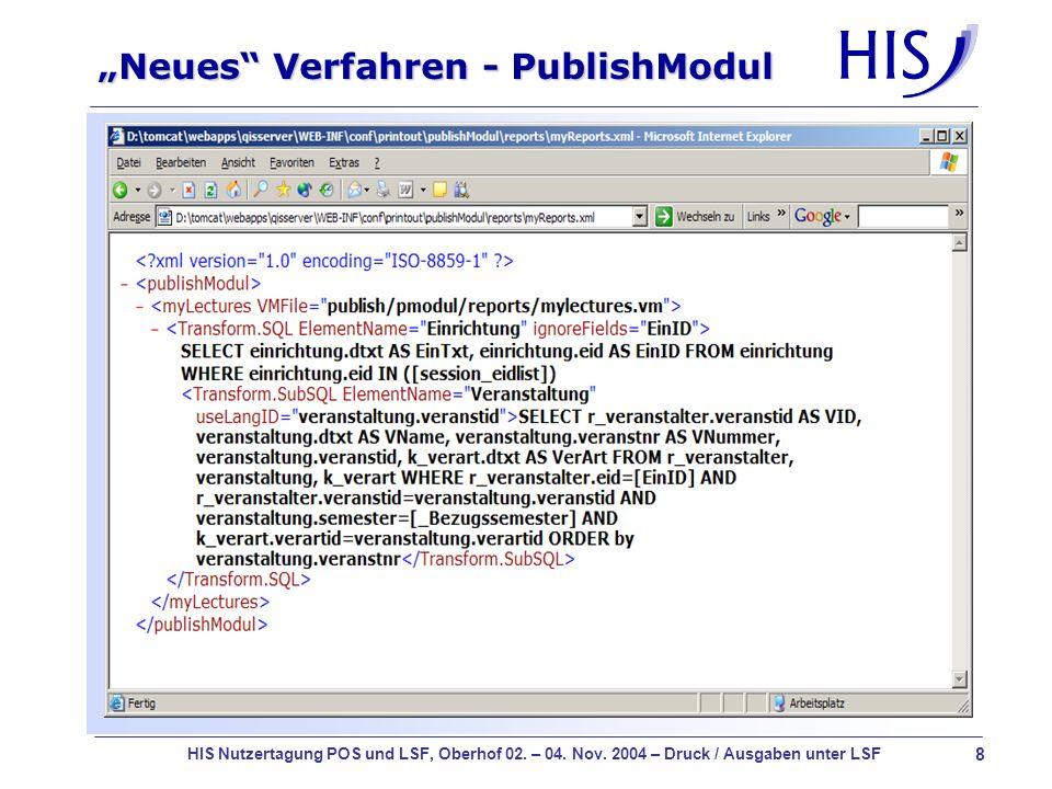 """Neues Verfahren - PublishModul"