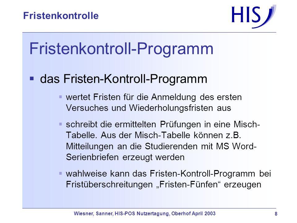 Fristenkontroll-Programm