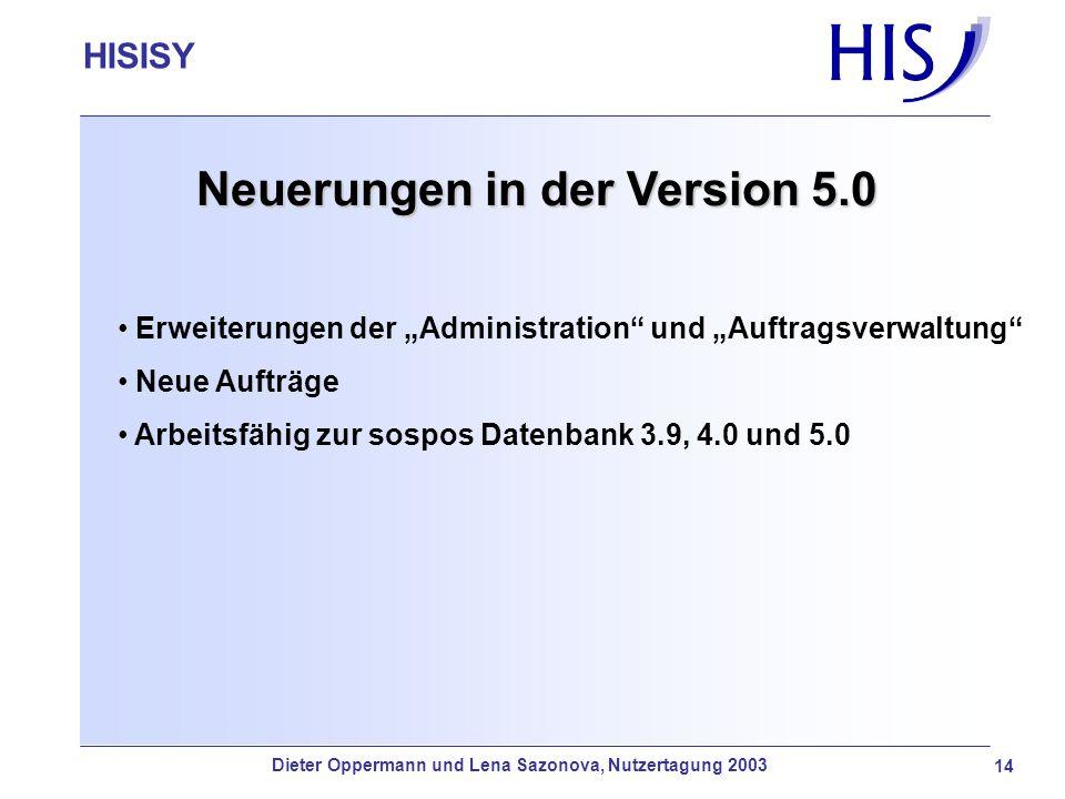 Neuerungen in der Version 5.0