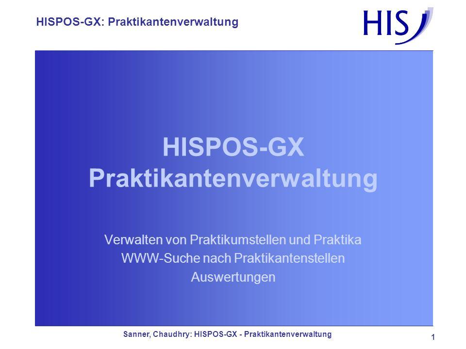 HISPOS-GX Praktikantenverwaltung