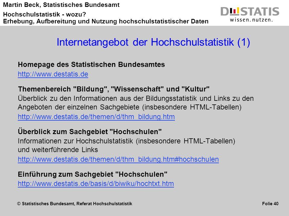 Internetangebot der Hochschulstatistik (1)