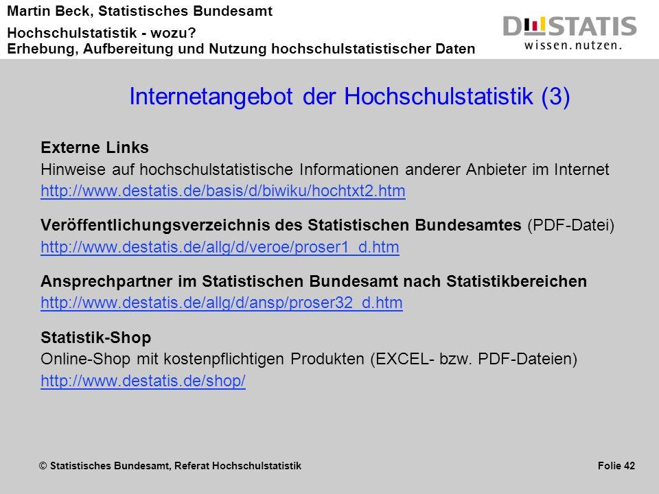Internetangebot der Hochschulstatistik (3)