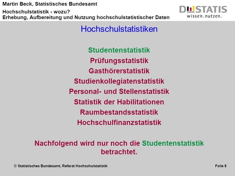 Hochschulstatistiken