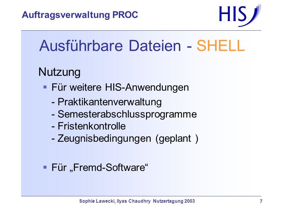 Ausführbare Dateien - SHELL