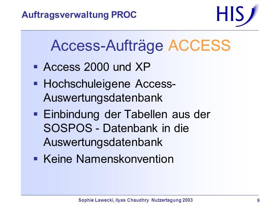 Access-Aufträge ACCESS