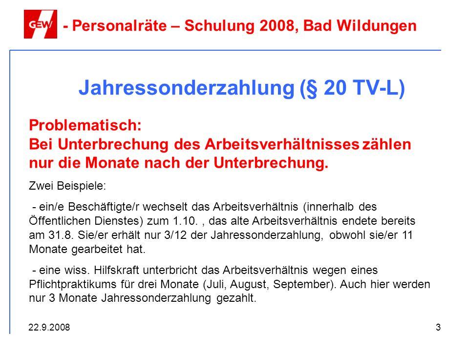 Jahressonderzahlung (§ 20 TV-L)