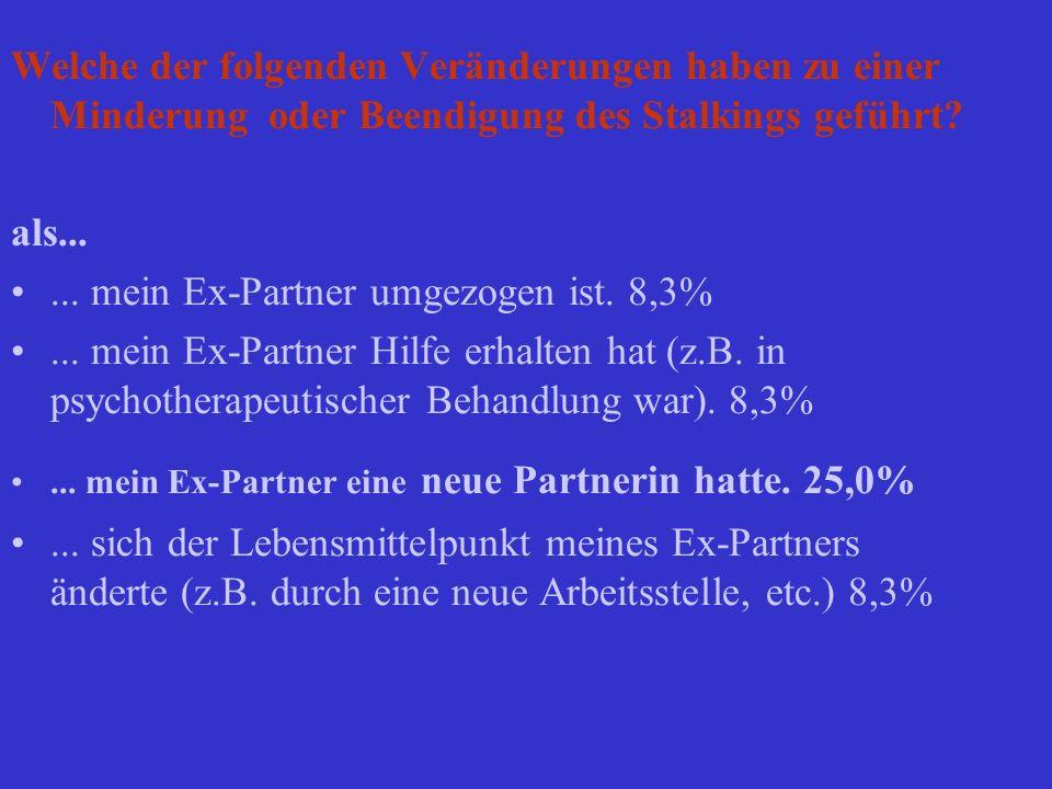 ... mein Ex-Partner umgezogen ist. 8,3%