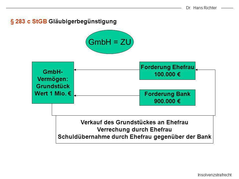 § 283 c StGB Gläubigerbegünstigung
