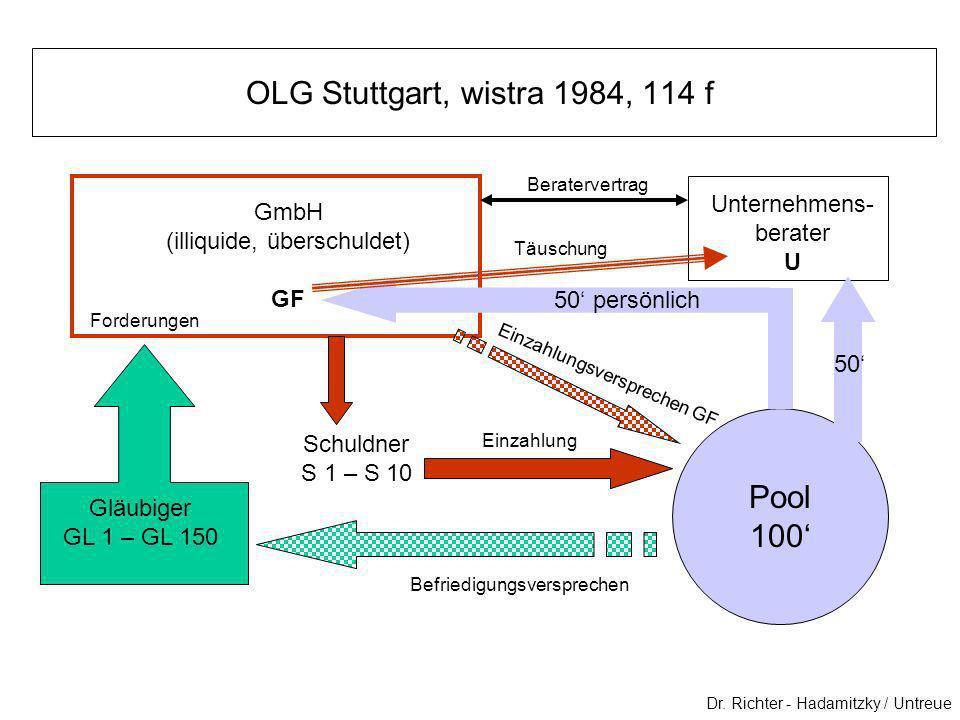 OLG Stuttgart, wistra 1984, 114 f Pool 100' Unternehmens-berater GmbH