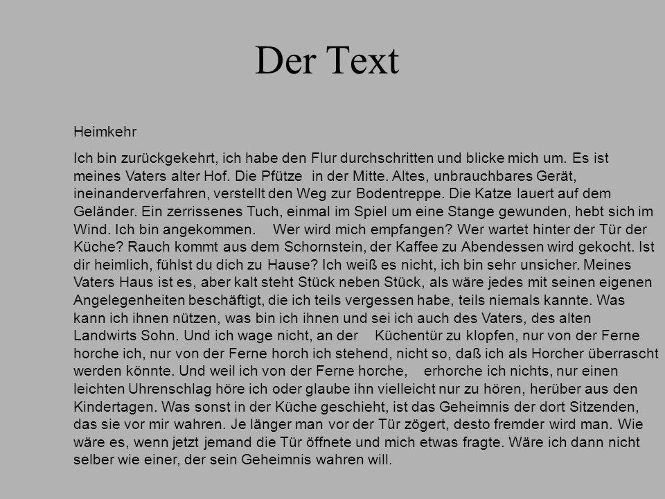 Der Text Heimkehr