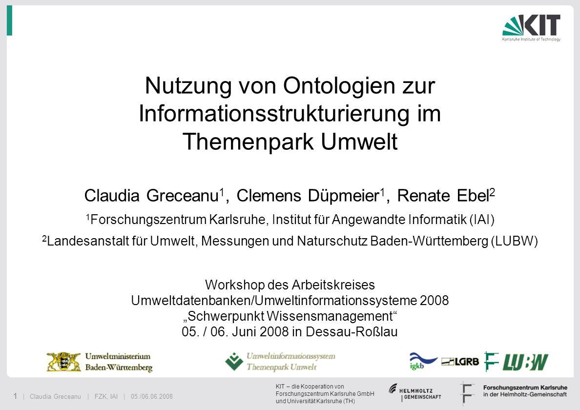 Nutzung von Ontologien zur Informationsstrukturierung im Themenpark Umwelt