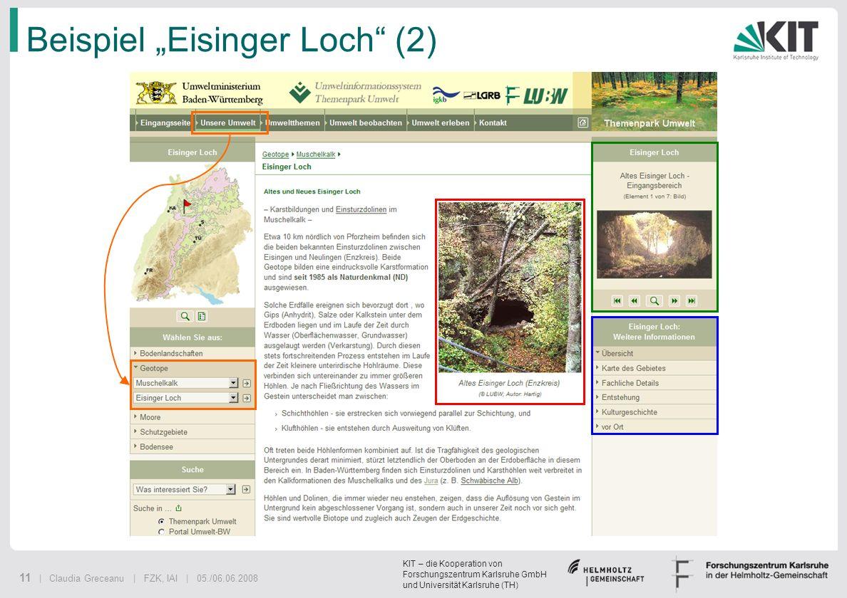 """Beispiel """"Eisinger Loch (2)"""