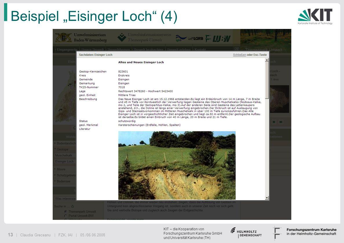 """Beispiel """"Eisinger Loch (4)"""