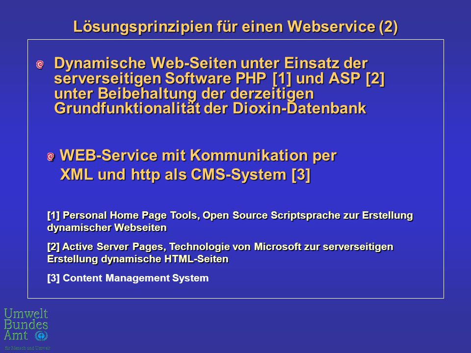 Lösungsprinzipien für einen Webservice (2)
