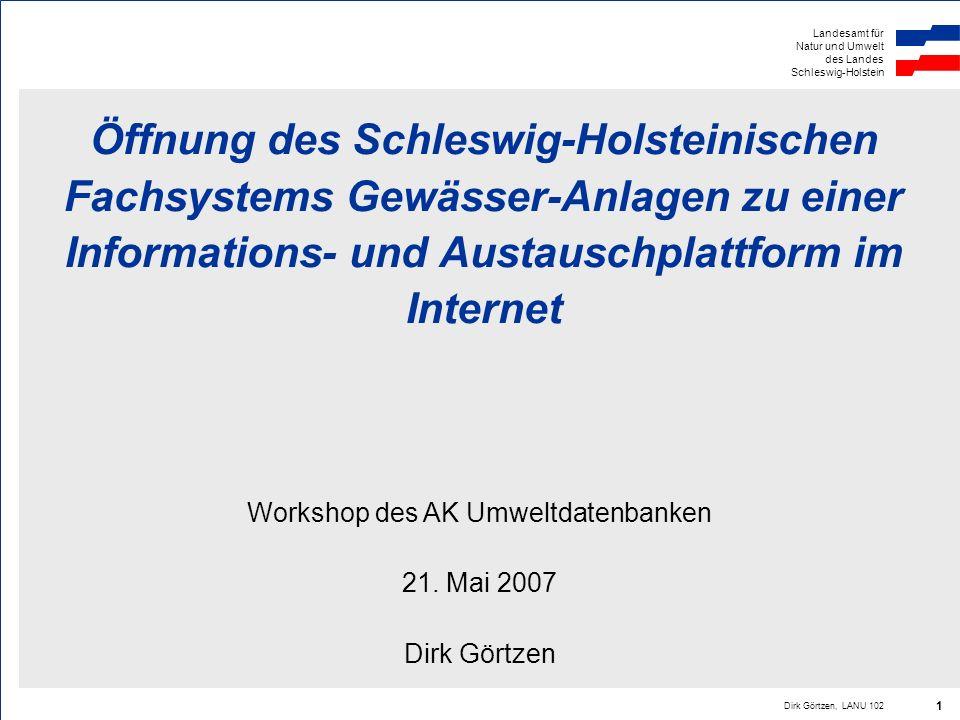 Workshop des AK Umweltdatenbanken