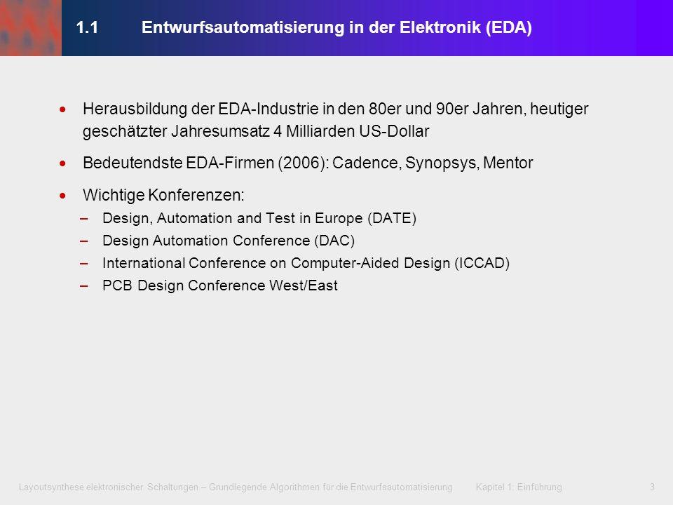 1.1 Entwurfsautomatisierung in der Elektronik (EDA)