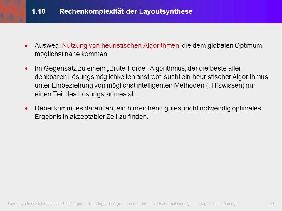 1.10 Rechenkomplexität der Layoutsynthese