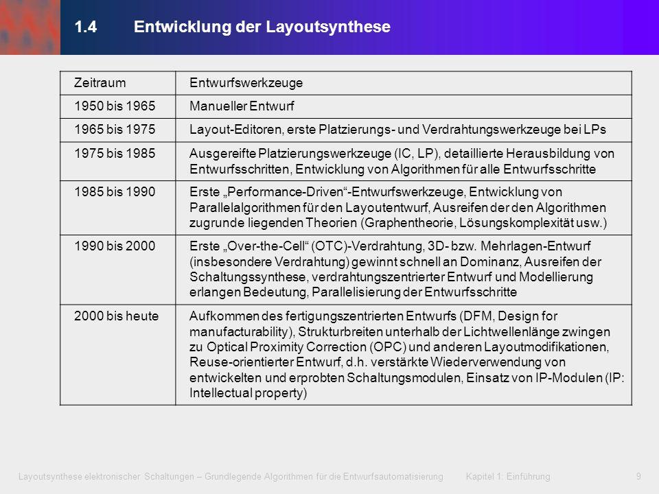 1.4 Entwicklung der Layoutsynthese