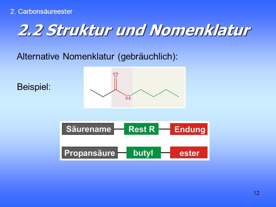 2.2 Struktur und Nomenklatur