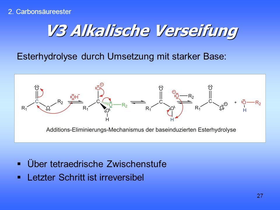 V3 Alkalische Verseifung