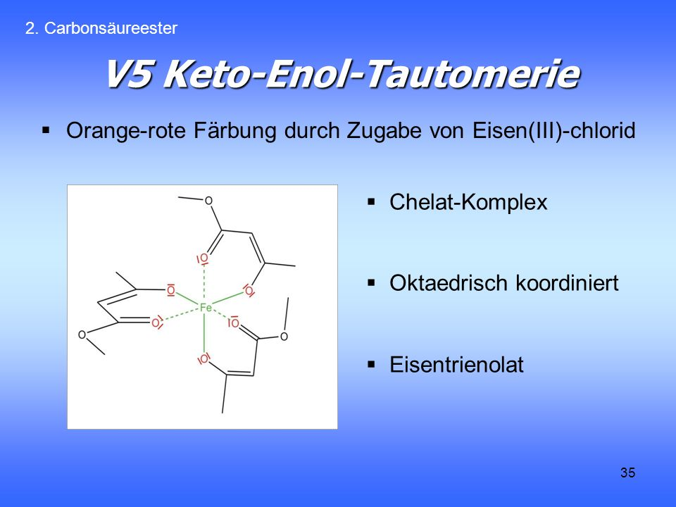 V5 Keto-Enol-Tautomerie