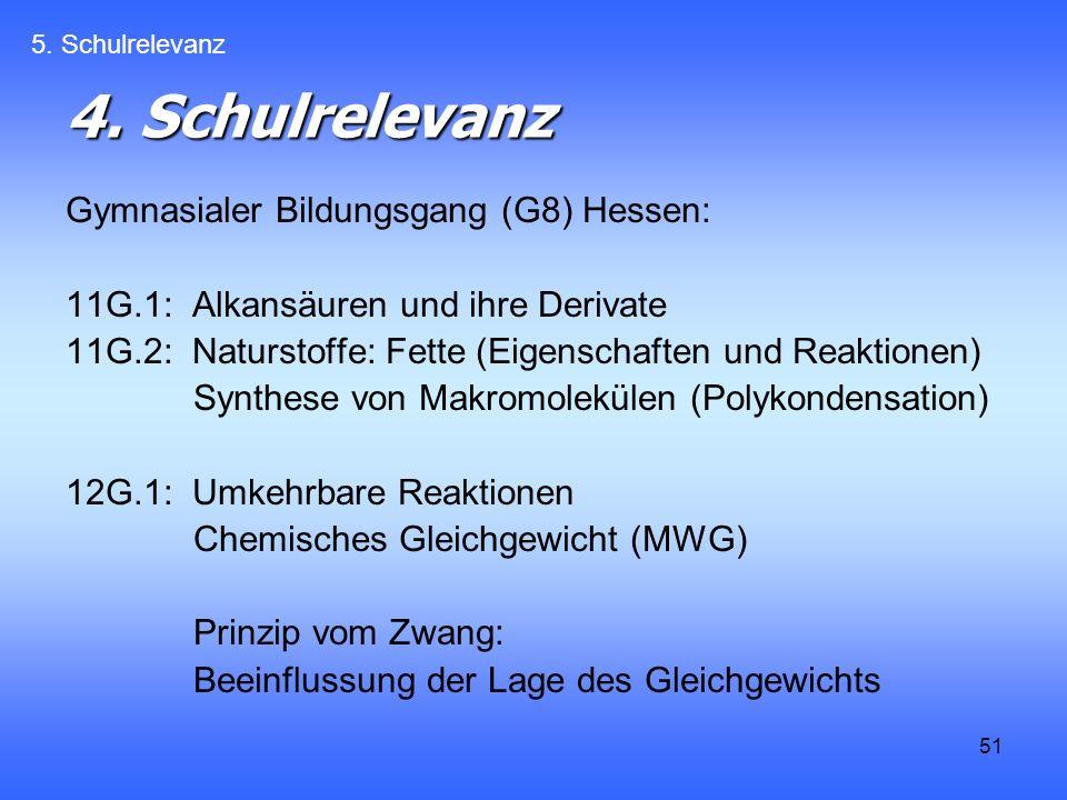 4. Schulrelevanz Gymnasialer Bildungsgang (G8) Hessen:
