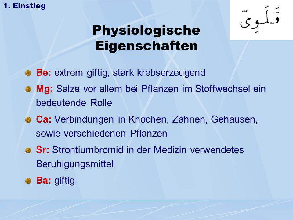 Physiologische Eigenschaften