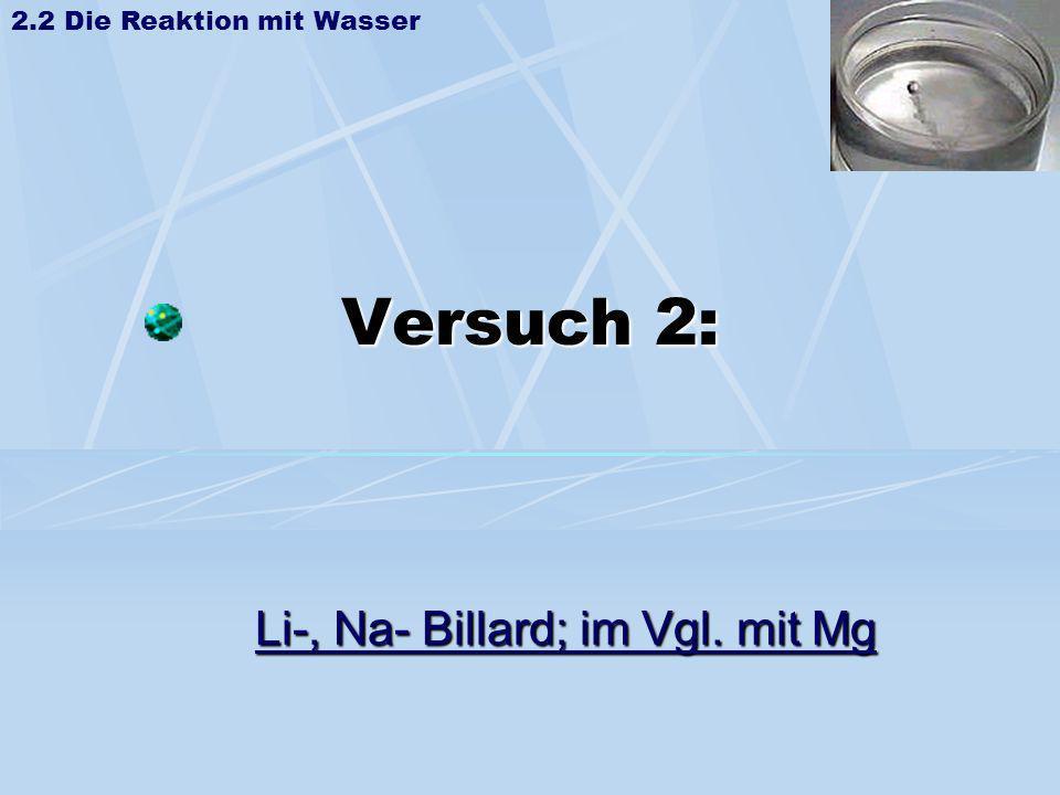 Li-, Na- Billard; im Vgl. mit Mg