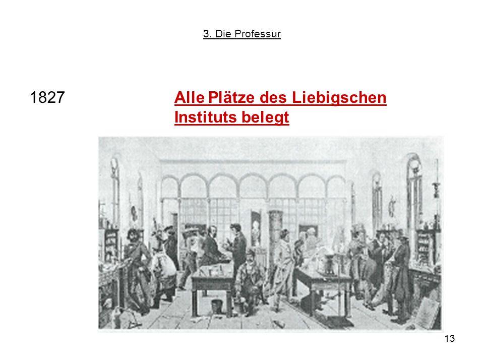 1827 Alle Plätze des Liebigschen Instituts belegt