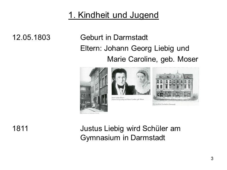 1. Kindheit und Jugend 12.05.1803 Geburt in Darmstadt