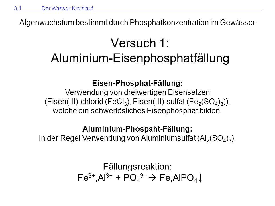 Versuch 1: Aluminium-Eisenphosphatfällung