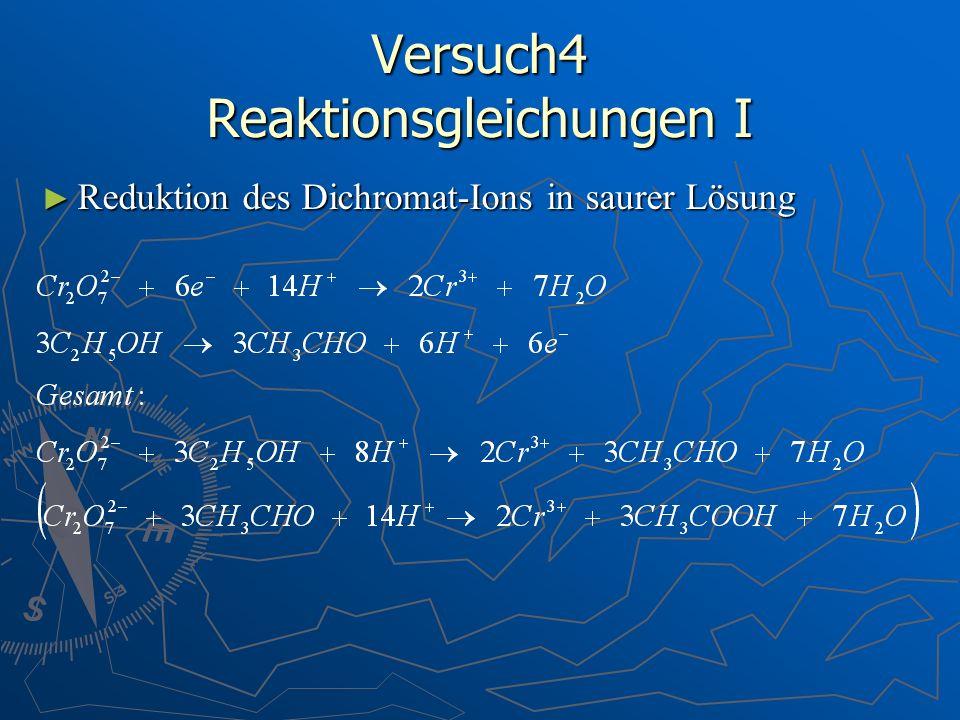 Versuch4 Reaktionsgleichungen I