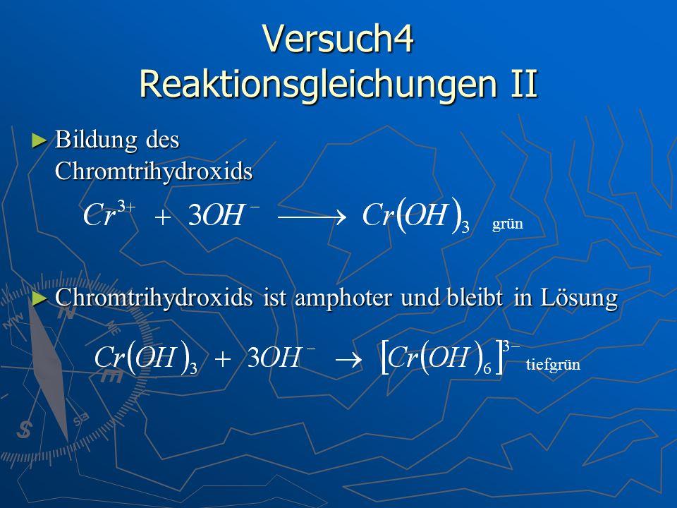 Versuch4 Reaktionsgleichungen II