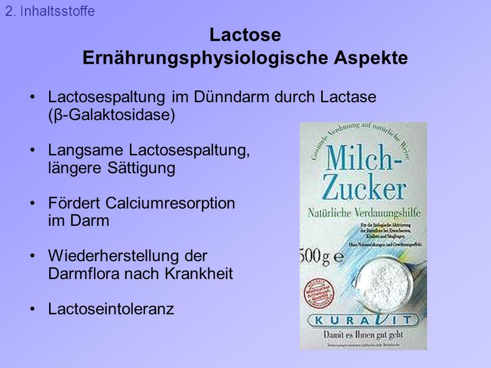 Lactose Ernährungsphysiologische Aspekte