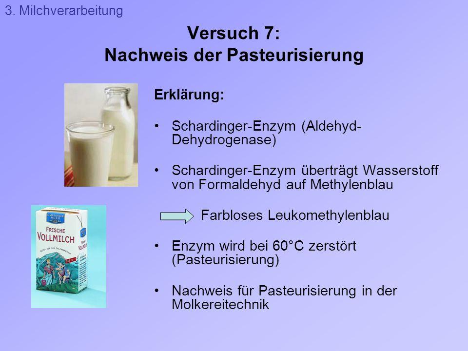 Versuch 7: Nachweis der Pasteurisierung
