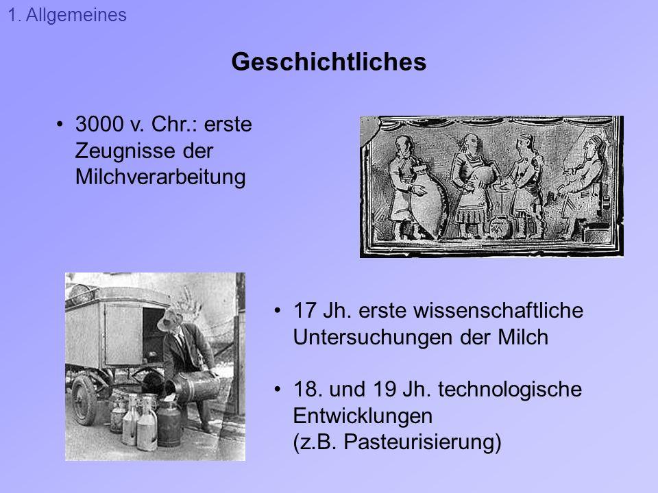 Geschichtliches 3000 v. Chr.: erste Zeugnisse der Milchverarbeitung