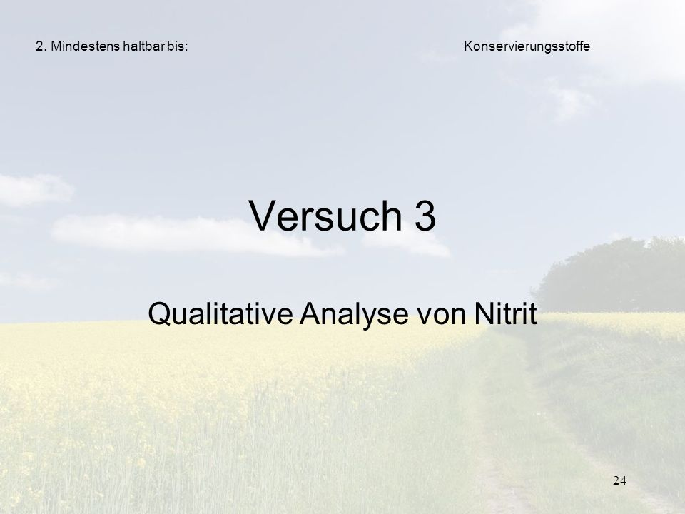 Qualitative Analyse von Nitrit