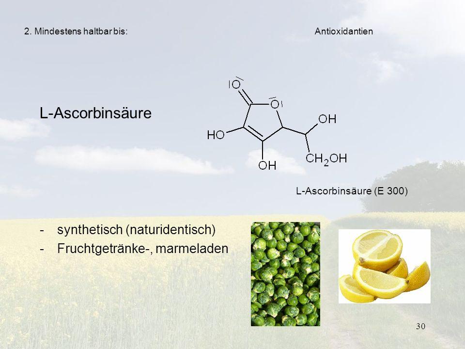 L-Ascorbinsäure synthetisch (naturidentisch)