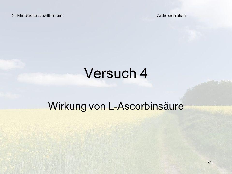 Wirkung von L-Ascorbinsäure