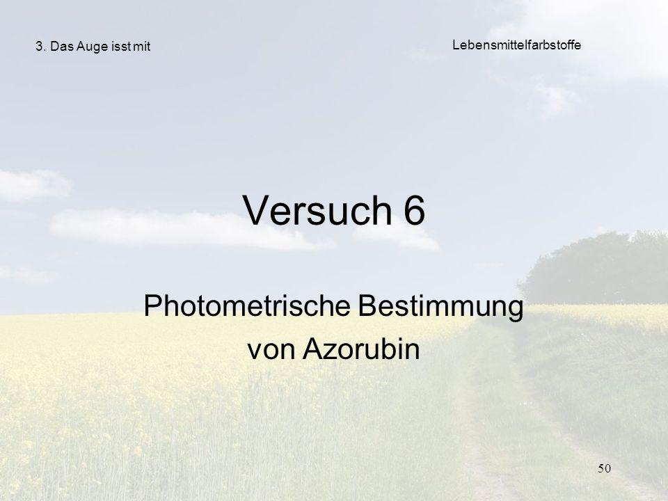 Photometrische Bestimmung von Azorubin