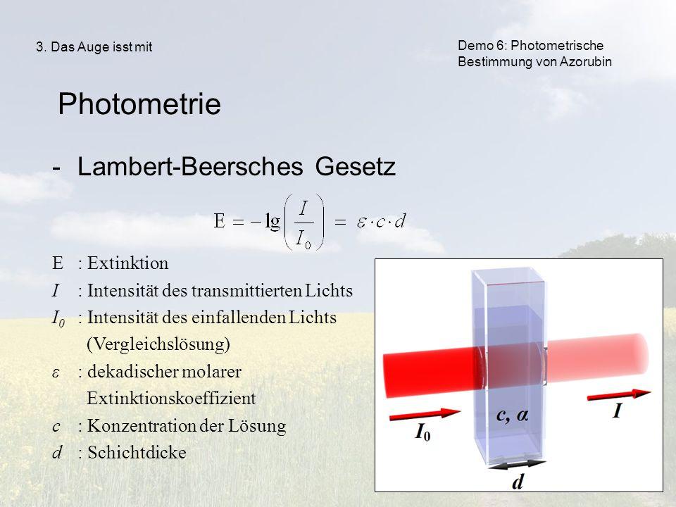 Lambert-beersches gesetz