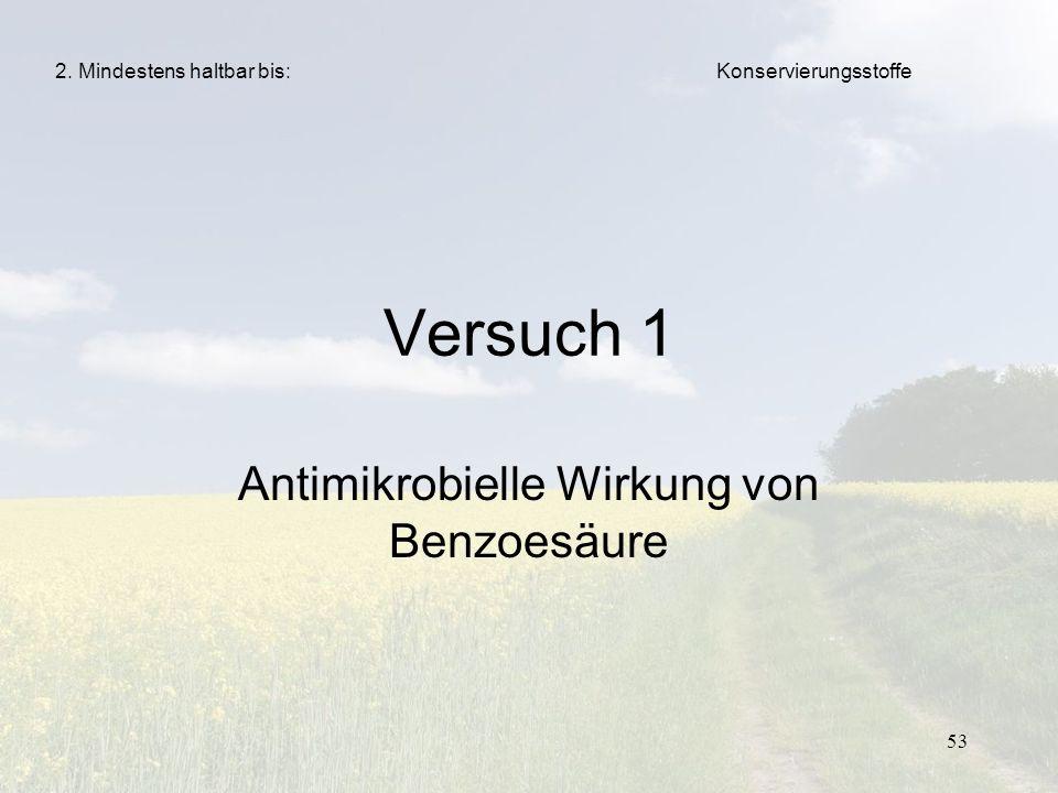 Antimikrobielle Wirkung von Benzoesäure