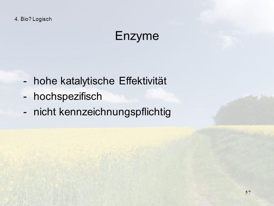 Enzyme hohe katalytische Effektivität hochspezifisch