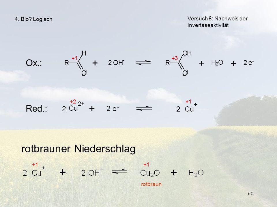 rotbrauner Niederschlag