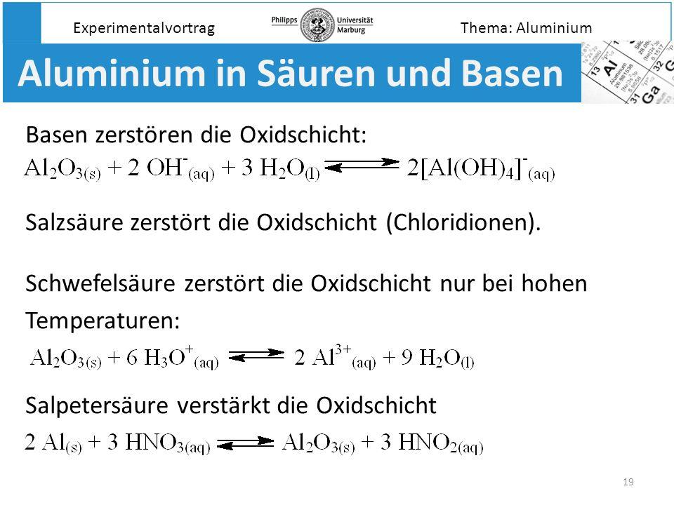Aluminium in Säuren und Basen