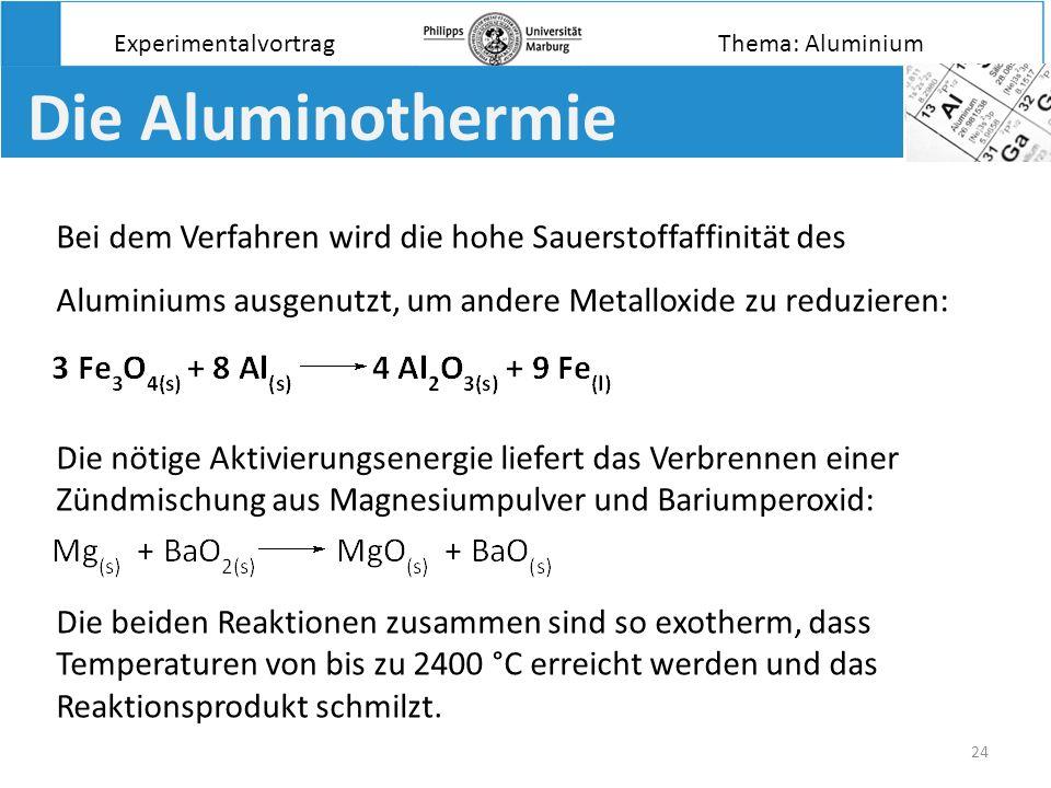 Experimentalvortrag Thema: Aluminium. Die Aluminothermie.