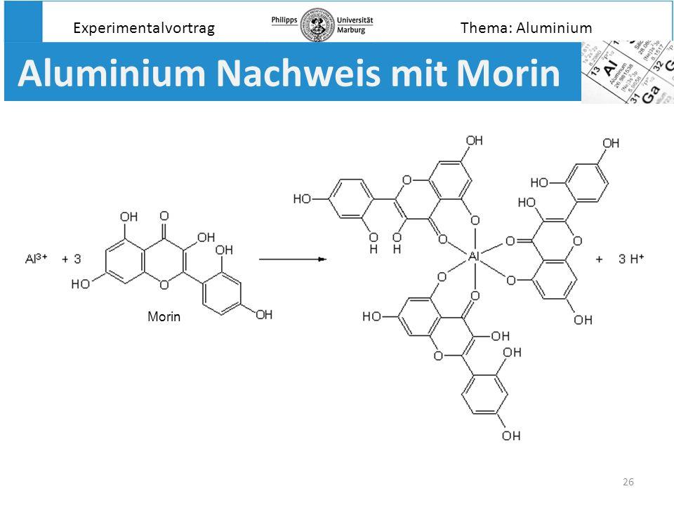 Aluminium Nachweis mit Morin