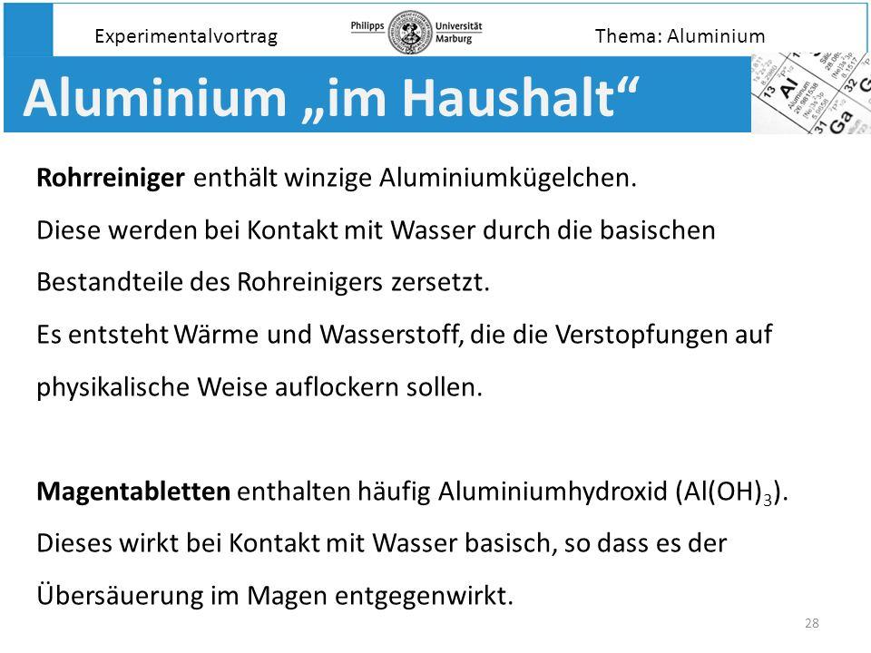 """Aluminium """"im Haushalt"""