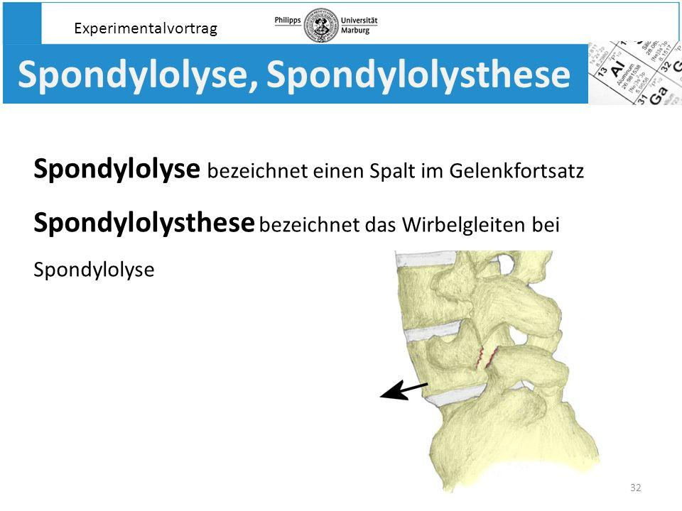 Spondylolyse, Spondylolysthese
